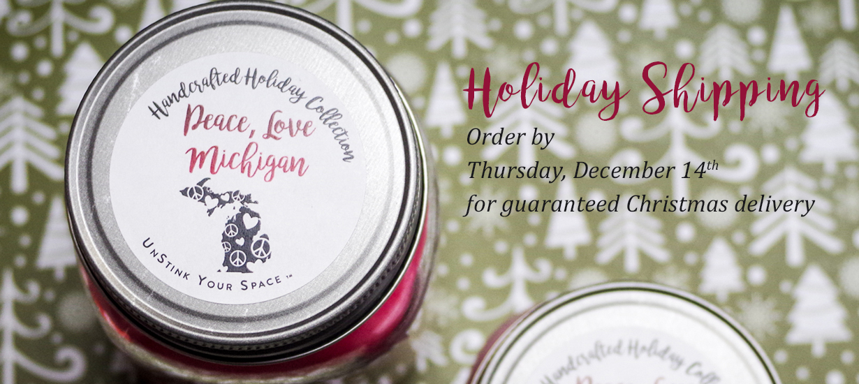 Coyer Candle Co Holiday Shipping