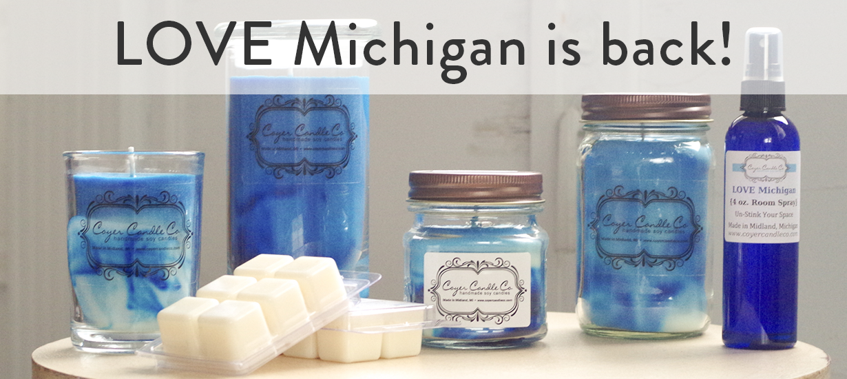 Coyer Candle Co LOVE Michigan