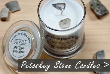 Petoskey Stone Candles